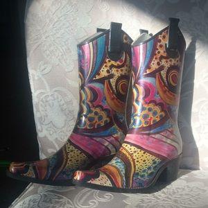 """Nature Breeze"" Cowgirl Rain Boots"